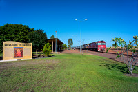 The Ghan about to depart Darwin for Katherine, Alice Springs and Adelaide.